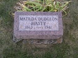 Laura Matilda <i>Dudgeon</i> Hasty