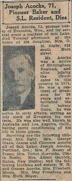 Joseph Acocks