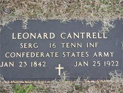 Sgt Leonard Cantrell