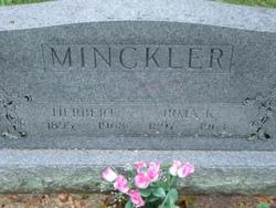 Irma K <i>Palfrey</i> Minckler