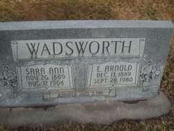 Sara Ann <i>Humphreys</i> Wadsworth