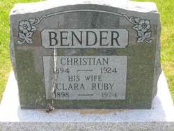 Clara <i>Ruby</i> Bender