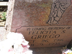 Felicita S Griego