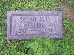 Sarah Jane <i>Ellis</i> Arledge