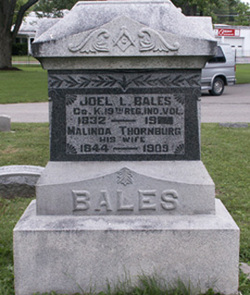 Pvt Joel L Bales