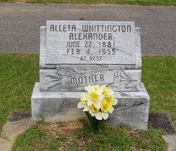 Alleta <i>Whittington</i> Alexander