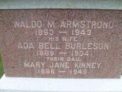 Ada Bell <i>Burleson</i> Armstrong