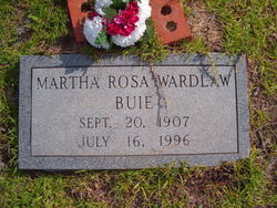 Martha Rosa <i>Wardlaw</i> Buie