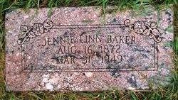 Jennie Linn <i>Peters</i> Baker
