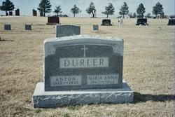 Mary Anna <i>Hall</i> Durler