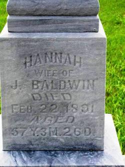 Hannah <i>Ball</i> Baldwin
