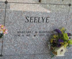 Margaret M <i>Robinson</i> Seelye