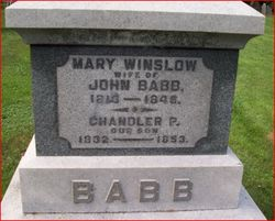 Mrs Mary <i>Winslow</i> Babb