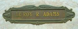Le Roy Runyon Adams