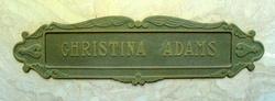 Christina <i>Rohde</i> Adams