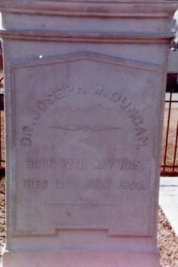 Dr Joseph W. Duncan