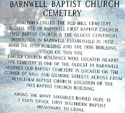 Barnwell Baptist Church Cemetery (old)