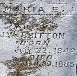 Maria E <i>Meadows</i> Britton
