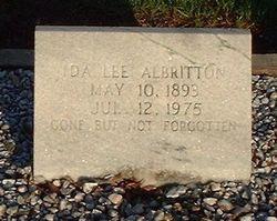 Ida Lee <i>Watson</i> Albritton