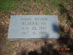 Siddie <i>Snyder</i> Blackburn