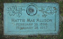 Hattie Mae <i>Beegle</i> Allison