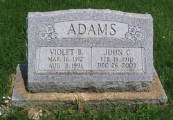 Violet B <i>Cochran</i> Adams