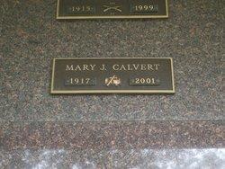Mary J <i>Cuddy</i> Calvert