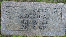 Ann <i>Walters</i> Blackshear