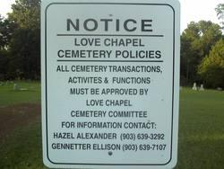 Love's Chapel Cemetery