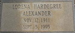 Lorena <i>Hardegree</i> Alexander