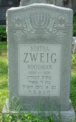Bertha <i>Zweig</i> Roodman