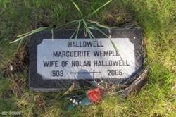 Marguerite <i>Wemple</i> Hallowell