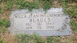 Willa Jean <i>Hollinsworth</i> Blade