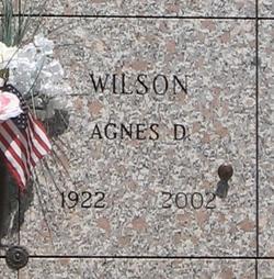 Agnes D Wilson