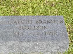 Elizabeth <i>Brannon</i> Burlison