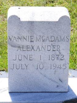 Vannie <i>McAdams</i> Alexander