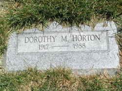 Dorothy M <i>Brooks</i> Horton
