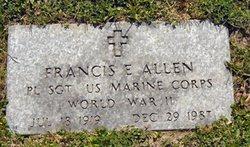 Sgt Francis E. Allen