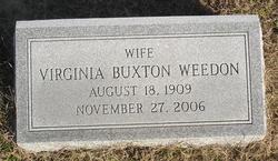 Virginia <i>Buxton</i> Weedon