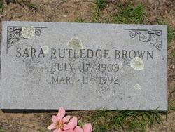 Sara <i>Rutledge</i> Brown