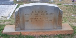 Nannie Belle <i>Love</i> Baucom
