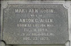 Mary Ann <i>Robins</i> Allen
