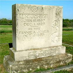 Frances Ann Fannie <i>Key</i> Jones