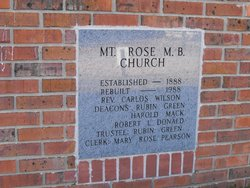 Mount Rose Missionary Baptist Church Cemetery