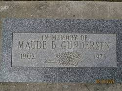 Maude Belle Maudie <i>Walters</i> Gunderson