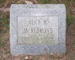 Alice May <i>Dingman</i> McRedmond