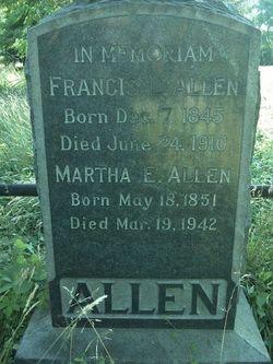 Martha E <i>Harding</i> Allen