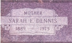 Sarah Elizabeth <i>Harvey</i> Dennis