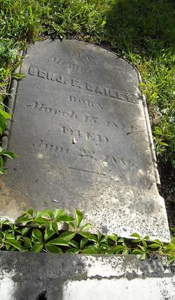 Col Benjamin Franklin Bailey