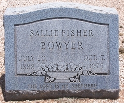 SALLIE ELIZABETH <i>FISHER</i> BOWYER